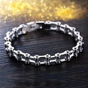 Jewelry - Stainless Steel Motorcycle Bike Chain Bracelet New